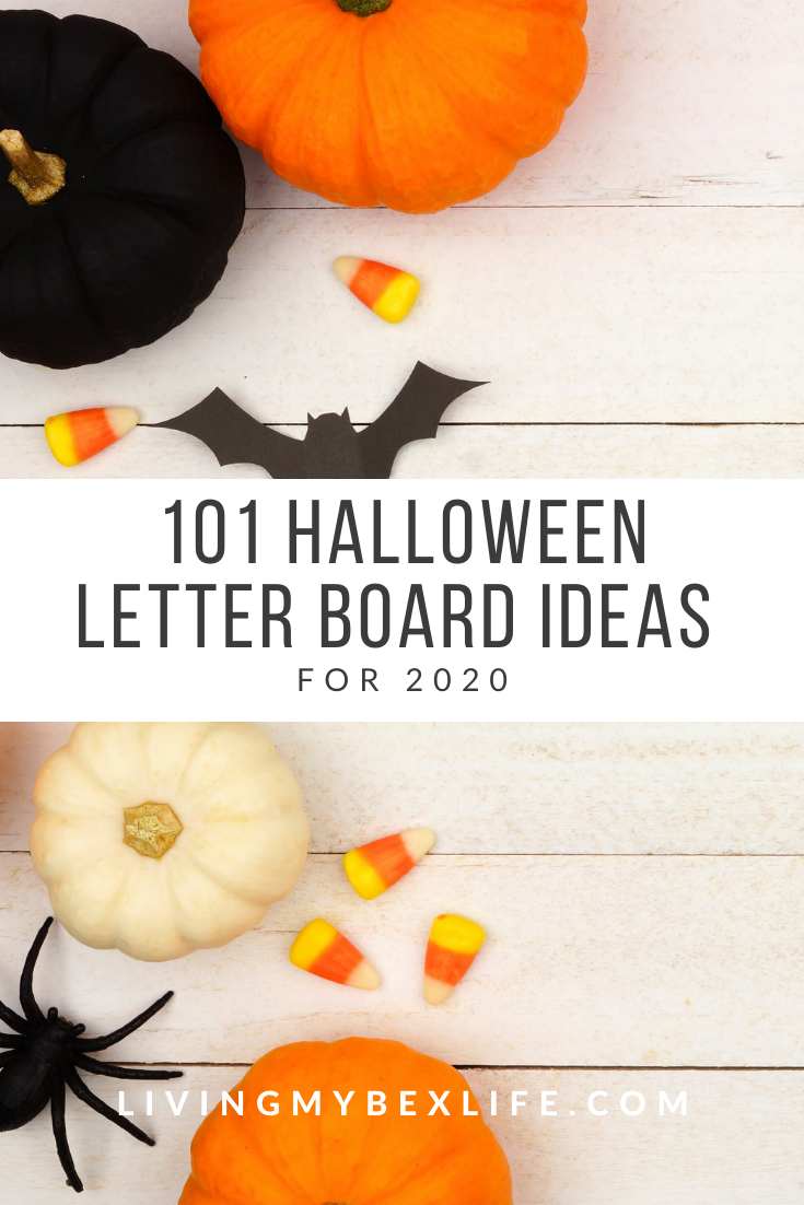 Halloween 2020 Letter 101 Halloween Letter Board Ideas for 2020   Living My Bex Life